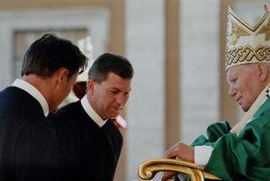 Kamil Dráb, teda don Camillo. Na audiencii u pápeža Jána Pavla II.