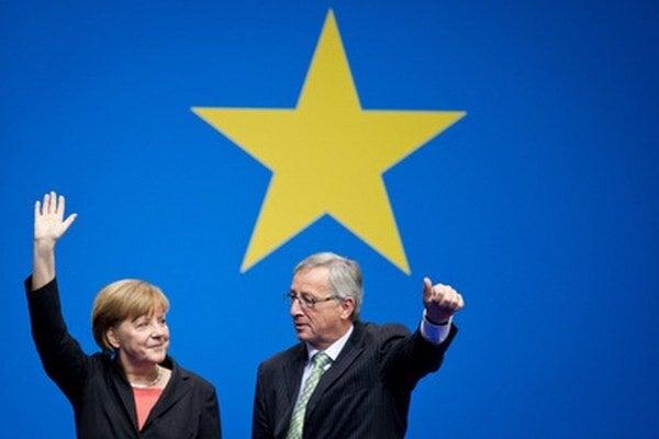 Angela Merkelová a Jean-Claud Juncker.
