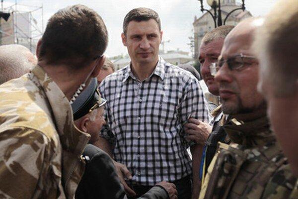 Zvolený primátor Kyjeva Kličko.