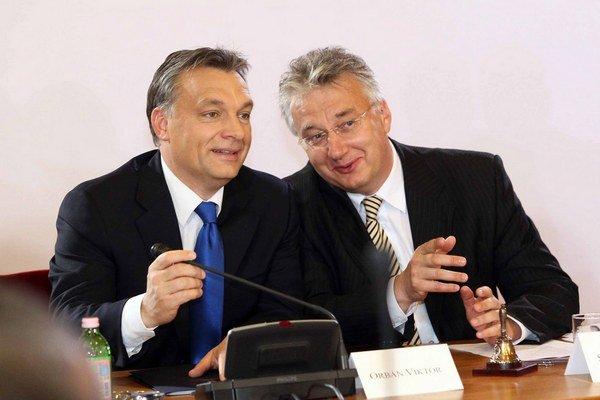 Viktor Orbán a Zsolt Semjén.