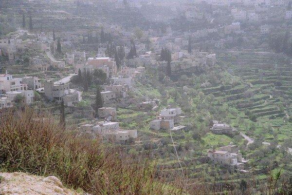 Palestínska dedina Battir.