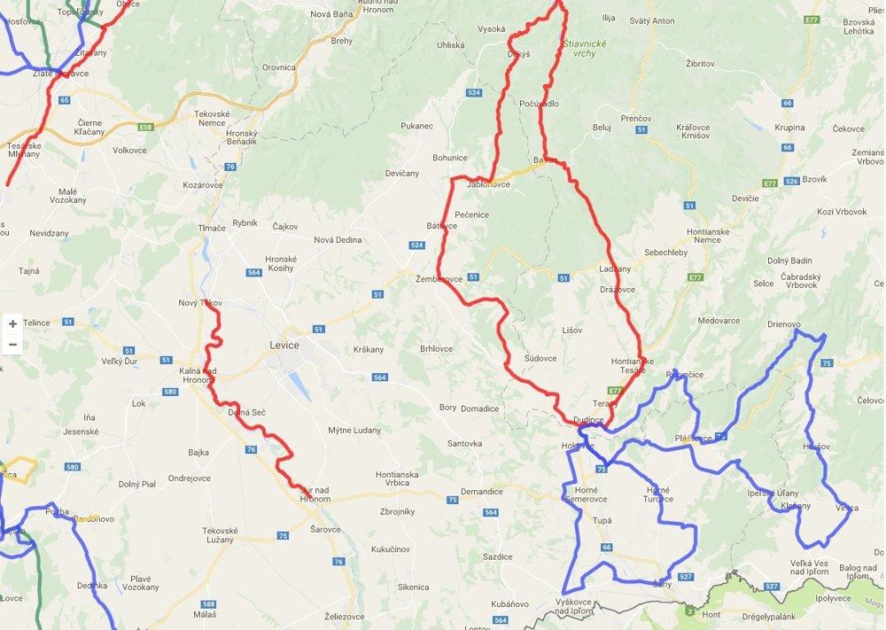 Cyklotrasy v Nitrianskom kraji.