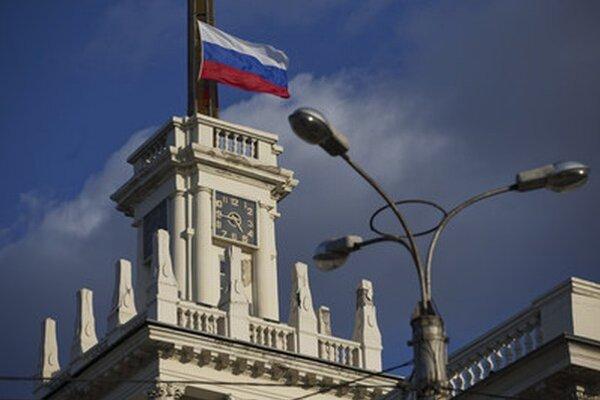 Ruská vlajka v Sevastopole.