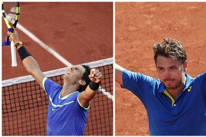 Mužské finále obstarajú Nadal (vľavo) a Wawrinka.
