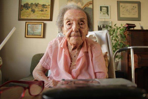 Alice Herz-Sommerová počas dvoch rokov v Terezíne odohrala viac než sto koncertov.