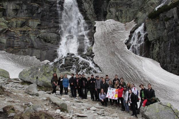 Vodopád Skok vo Vysokých Tatrách.