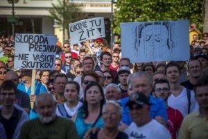 Protikorupčný pochod v Žiline.