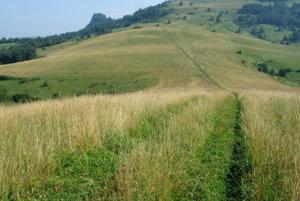 Chodník na hranicu s trčiacim Rabštínom.