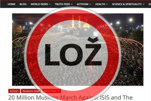 Správa o pochode moslimov je polopravdou.