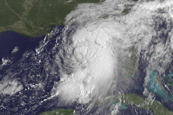 Tropická búrka Hermína z roku 2016 (ilustračné foto).