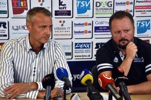 Na snímke zľava primátor mesta Košice Richard Raši a generálny manažér basketbalového klubu Good Angels Košice Daniel Jendrichovský.
