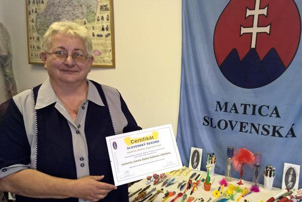 Zlatica Halková má rekordné atypické perá.