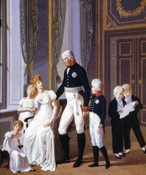 Pruská kráľovná Luisa s manželom Fridrichom Wilhelmom a prvými piatimi deťmi