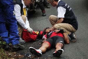 Richie Porte mal v deviatej etape vážnu nehodu.