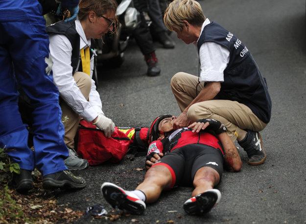Richieho Porta transportovali po hrozivom páde do nemocnice.