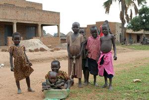 Ugandské deti.