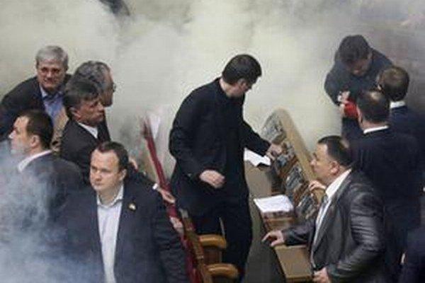 Záber z ukrajinského parlamentu.