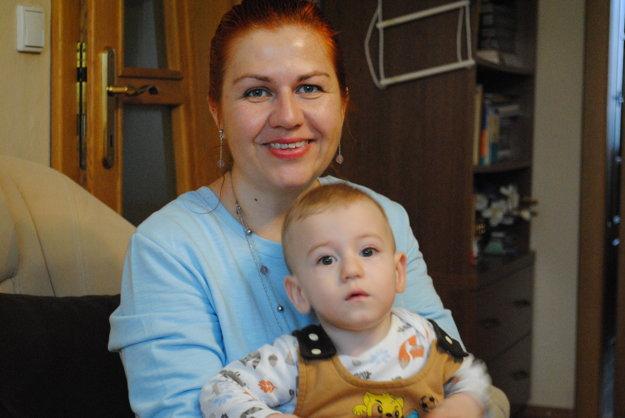 Danka Pavlíková so synom Matúškom v decembri 2015.