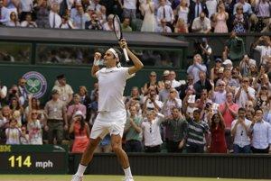 Radosť Rogera Federera.