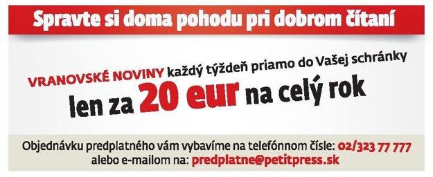 Predplaťte si Vranovské noviny na celý rok priamo do schránky.