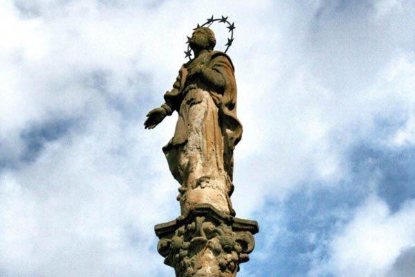 Socha z matejovskej Immaculaty.