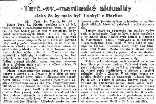 Noviny Slovenská politika z 11. októbra 1933.