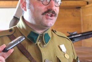 Na snímke veliteľ Legiovlaku Tomáš Gál v Poprade.