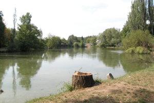Nová časť mestského parku, jazero Veľká Hangócka.