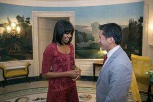 Michelle Obamová s novým účesom.
