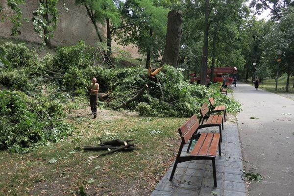 Veterná smršť napáchala obrovské škody.
