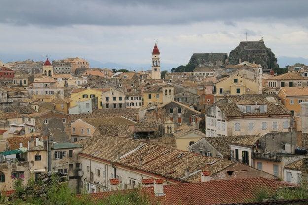 Historická časť meste Korfu.