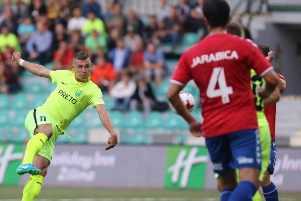 Autor dvoch gólov Žilina a odchovanec FK Senica Samuel Mráz.