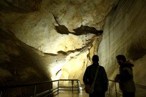 V Dobšinskej ľadovej jaskyni.