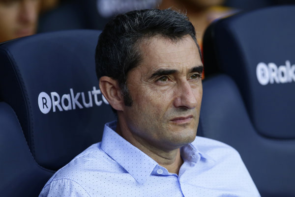 Tréner FC Barcelona Ernesto Valverde.