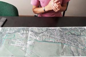 Mapa pozemkových úprav v Čimhovej.