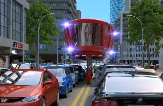 Hasičské vozidlo by sa mohlo preniesť ponad zápchu.