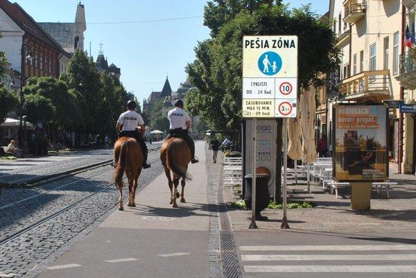 Kone na cyklochodníku. Podľa polície to bola najbezpečnejšia cesta.