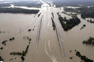 Záplavy po hurikáne v Texase.