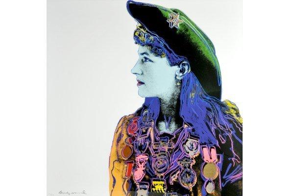 Andy Warhol: Annie Oakley, 1986, sieťotlač.