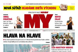 Titulná strana týždenníka MY Prešovské noviny č. 35/2017.