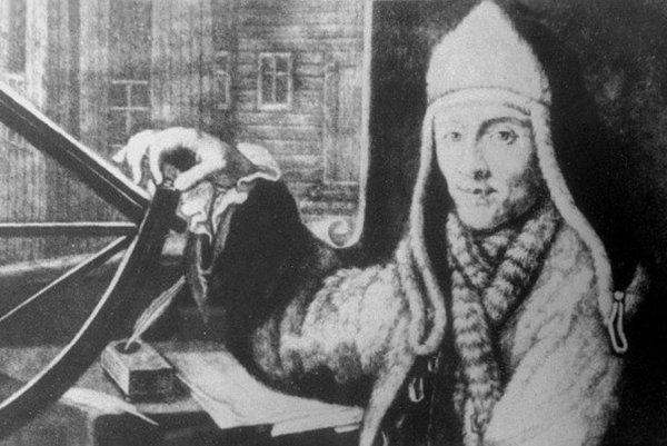 Archívna podobizeň Maximiliána Hella, ktorý spája Štiavnické Bane s nórskym mestečkom Vardø.