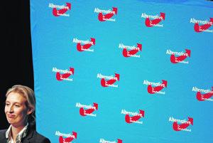 Alice Weidel, líderka kandidátky nemeckej krajne pravicovej strany AfD.
