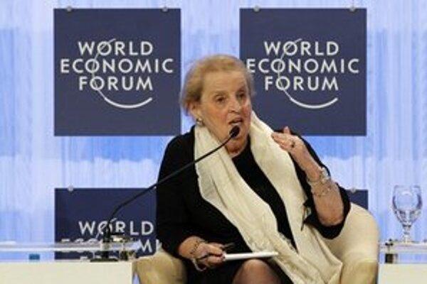 Madeleine Albrightová na svetovom ekonomickom fóre.