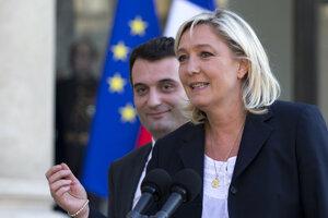 Marine Le Penová a Florian Philippot.