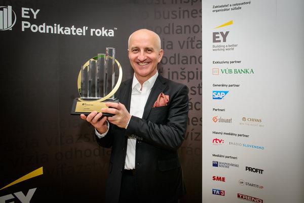Vlani vyhral súťaž Podnikateľ roka Jozef Klein zo spoločnosti Asseco Central Europe.