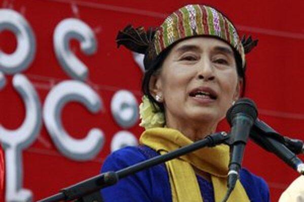 Líderka mjanmarskej opozície Su-Ťij.