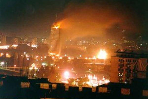 Bombardovanie Belehradu.