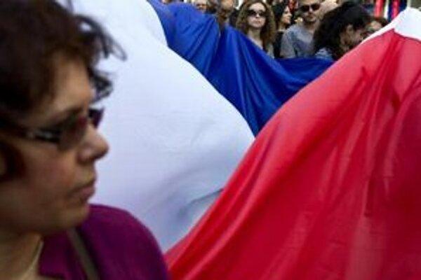 Francúzi minulý týždeň protestovali proti terorizmu v krajine.