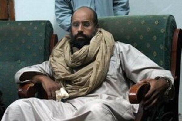 Kaddáfího syn Sajf Islám.