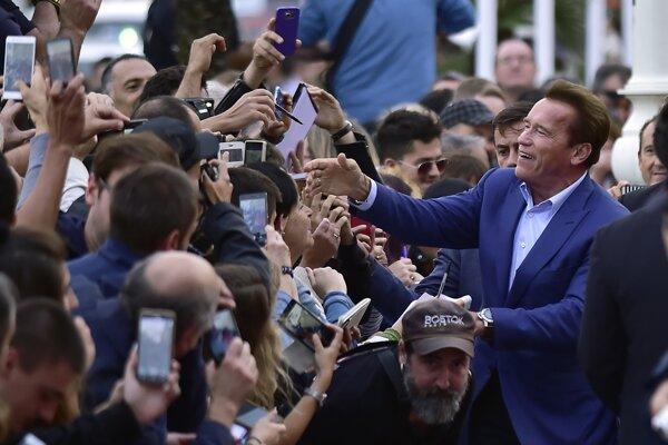 Arnold Schwarzenegger na festivale v San Sebastiane.